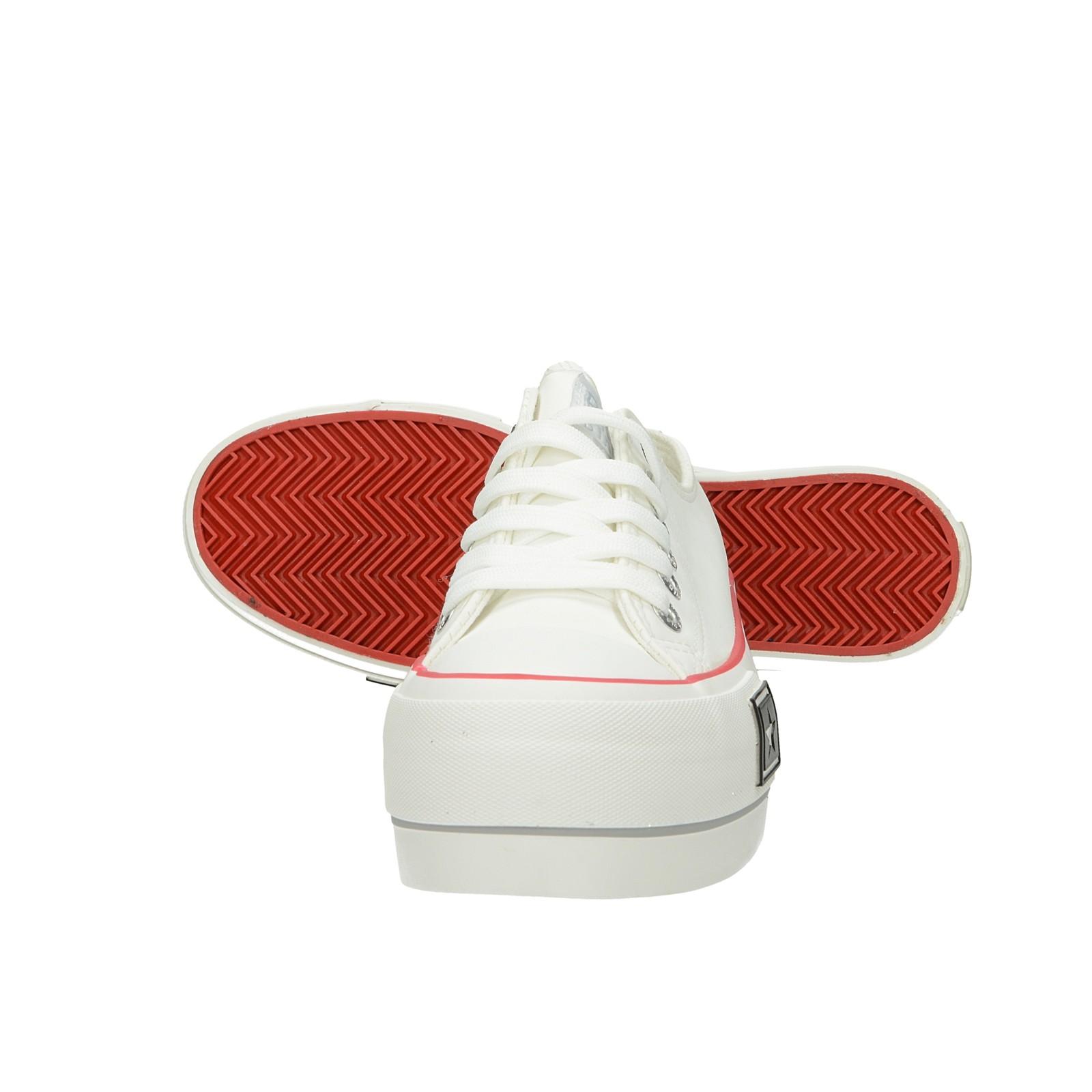 Big Star dámske štýlové tenisky na platforme - biele