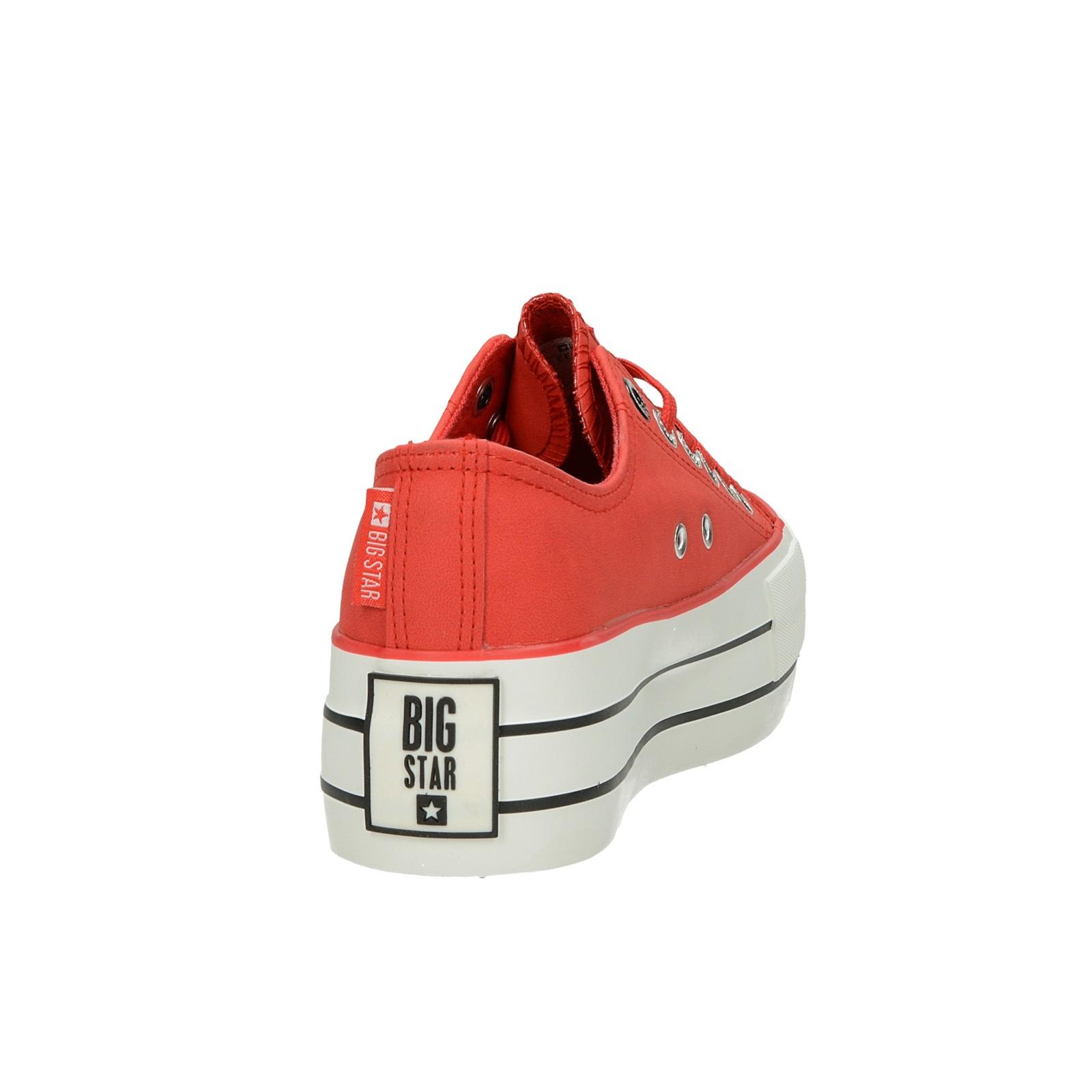 Big Star dámske štýlové tenisky na platforme - červené