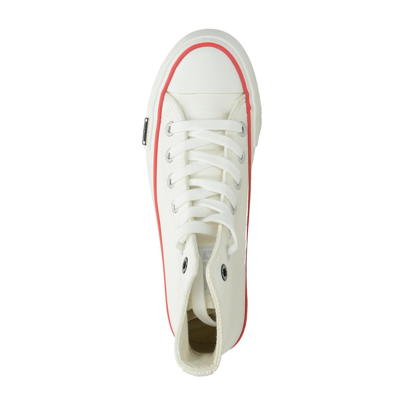 Big Star dámske vysoké tenisky - biele