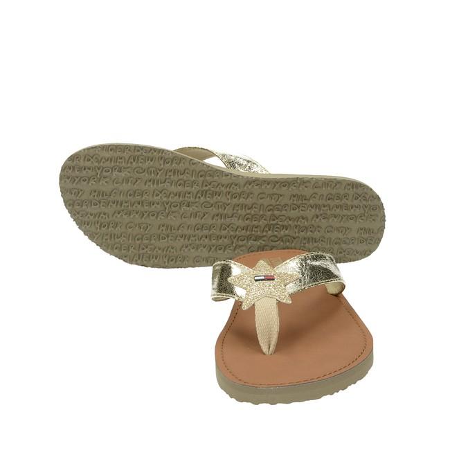 Tommy Hilfiger dámske elegantné šľapky - zlaté