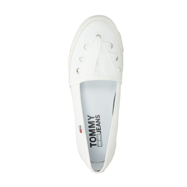 Tommy Hilfiger dámske pohodlné baleríny - biele