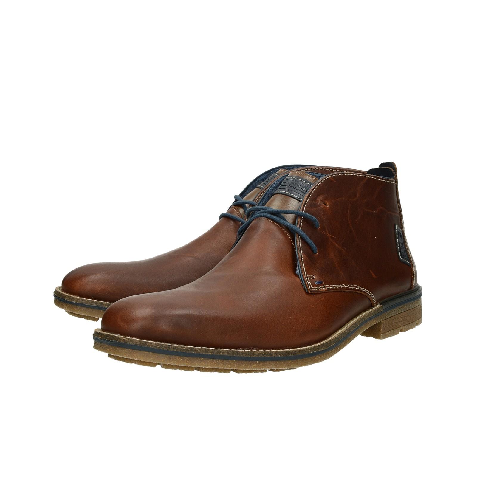 2c2ebef3e304e Rieker pánska kožená členková obuv - hnedá   F131025-MARRONE www ...