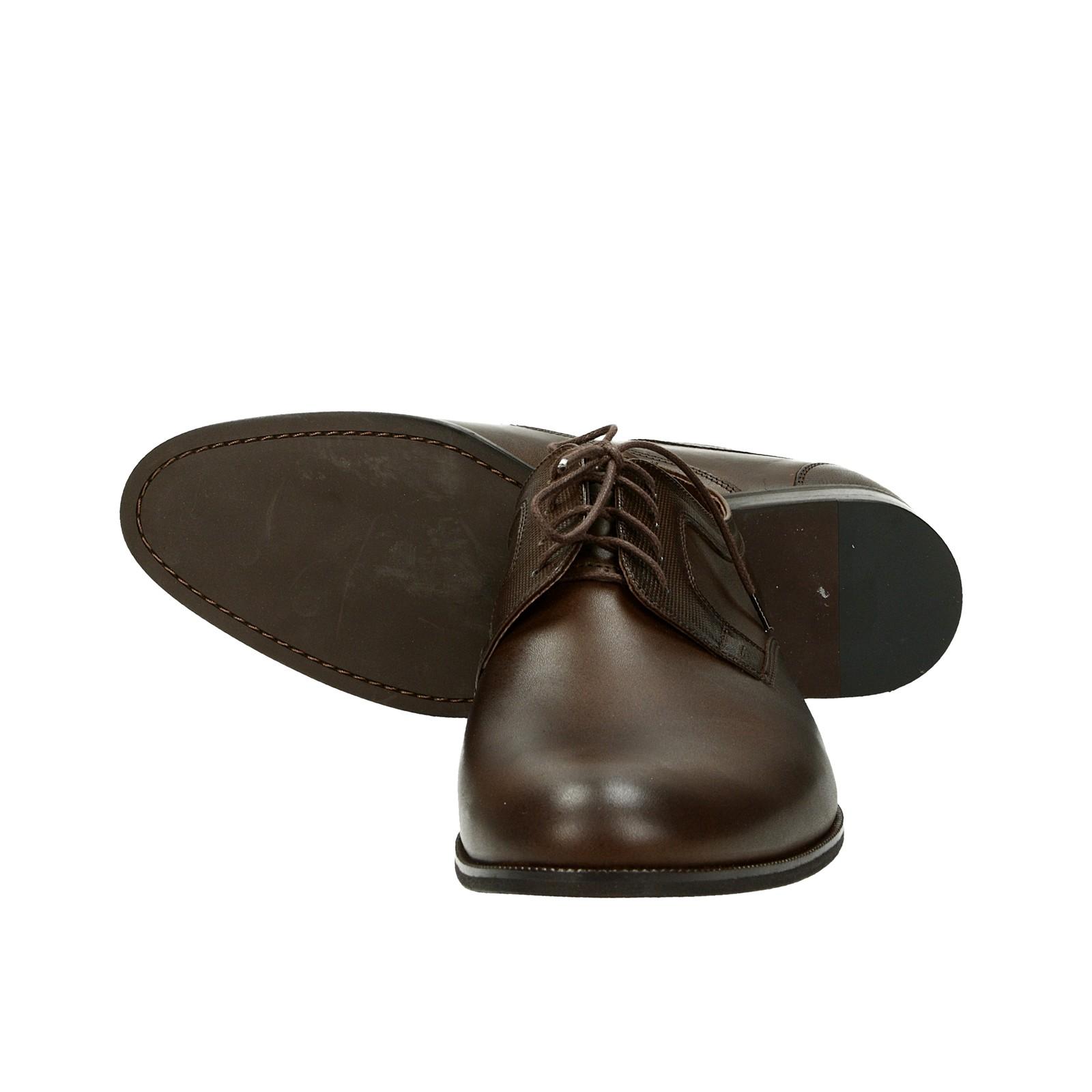 Faber pánske kožené spoločenské topánky - tmavohnedé ... bfe430cec0b