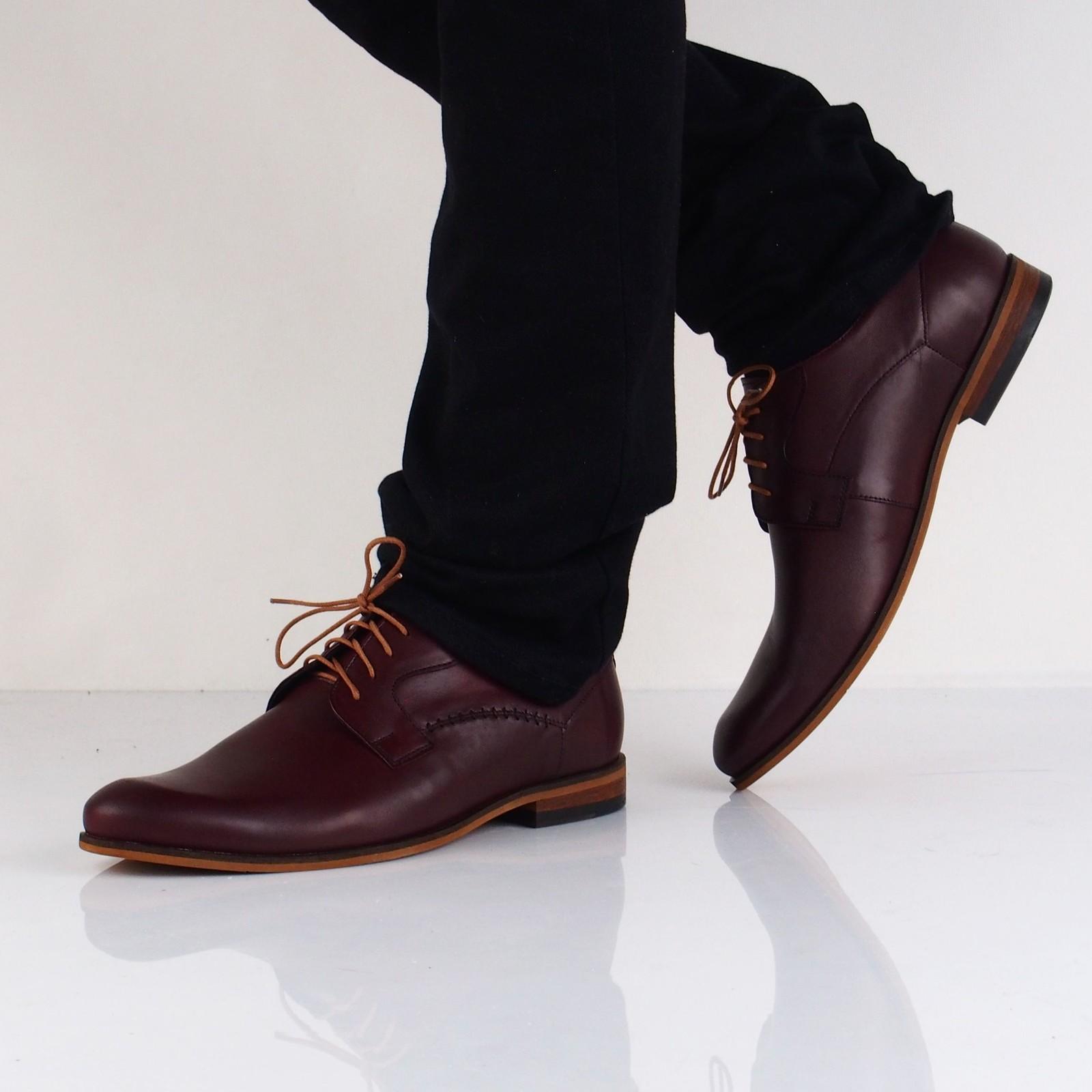 Faber pánske kožené spoločenské topánky - bordové
