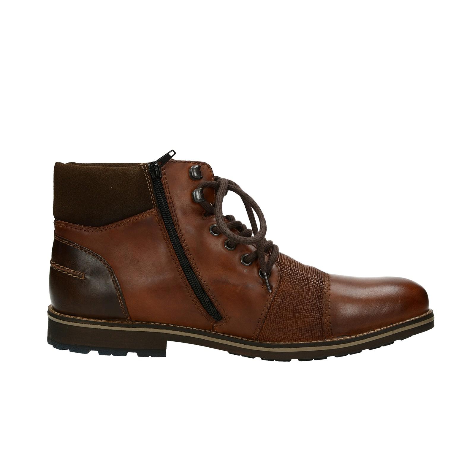 8bc3d2df58 ... Rieker pánska štýlová členková obuv na zips - hnedá ...