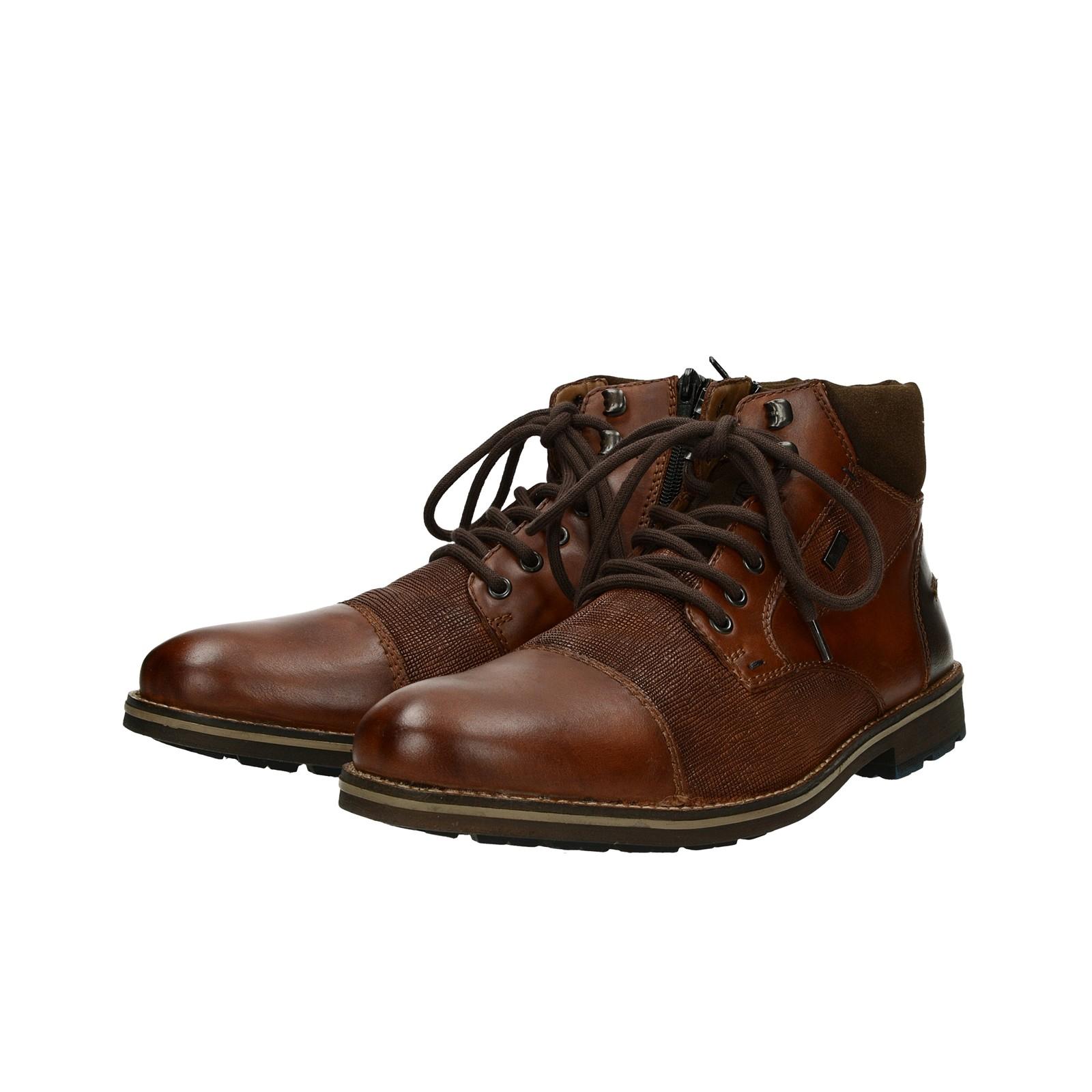 ... Rieker pánska štýlová členková obuv na zips - hnedá ... efc06390620