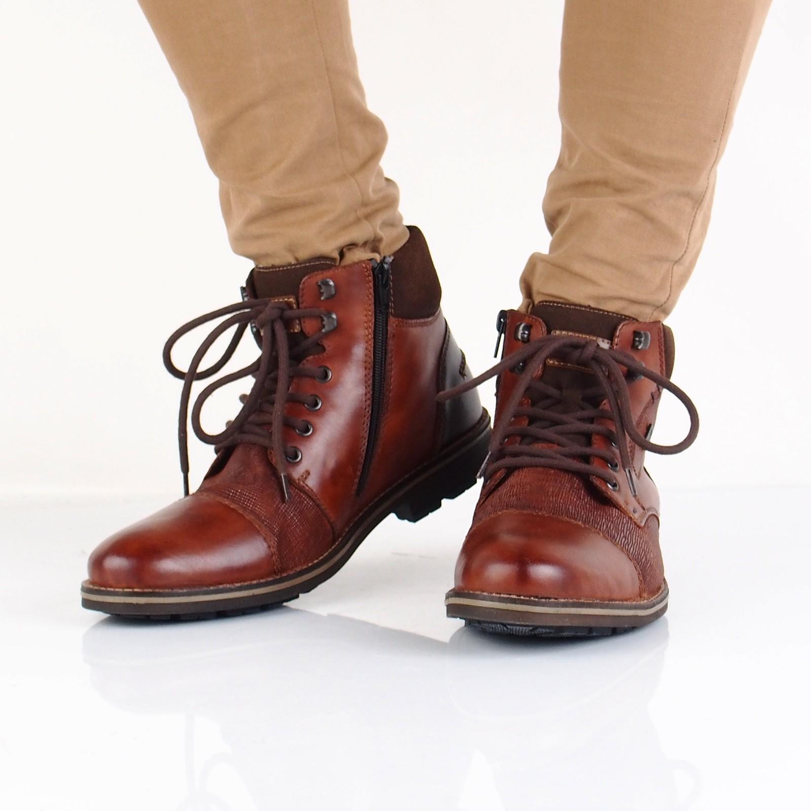 8e552bc536 Rieker pánska štýlová členková obuv na zips - hnedá ...