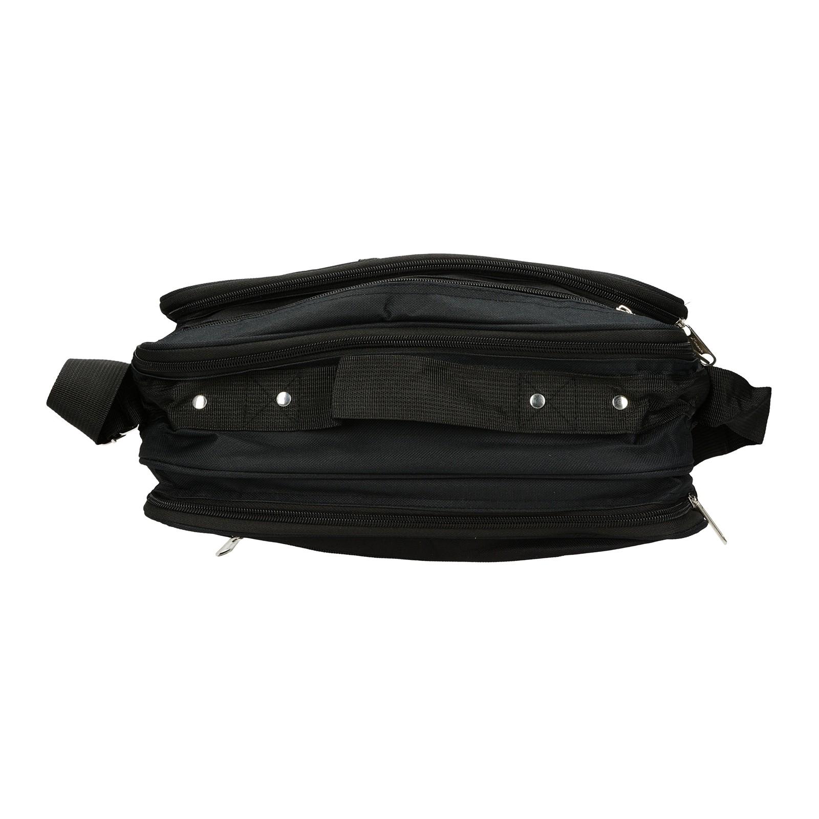 Mercucio pánska textilná laptopová taška - čierna
