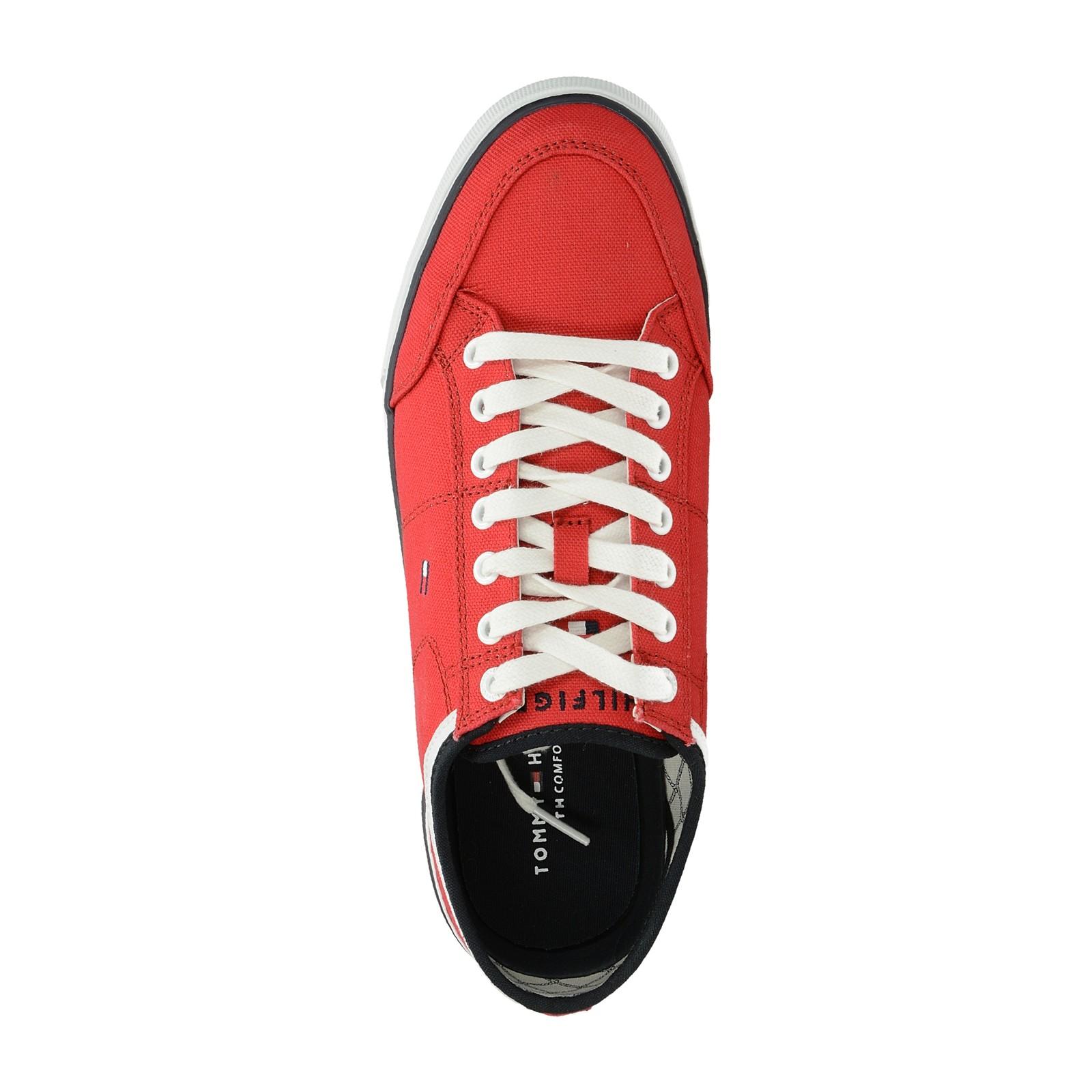 Tommy Hilfiger pánske pohodlné tenisky - červené