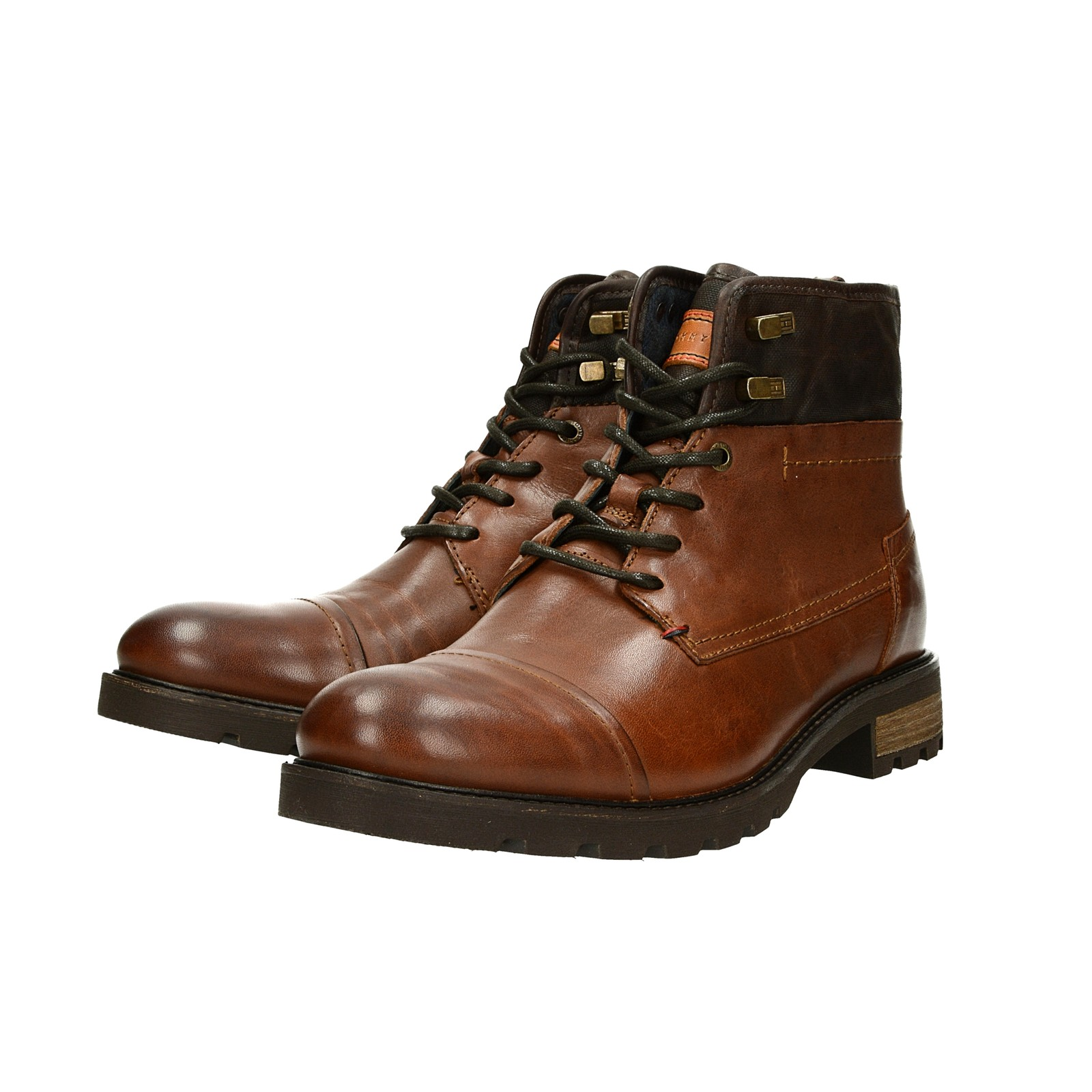ce7b555f63 ... Tommy Hilfiger pánska štýlová členková obuv - koňaková ...