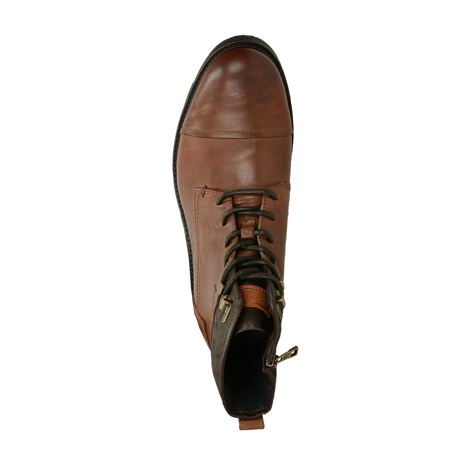 Tommy Hilfiger pánska štýlová členková obuv - koňaková ... 7a31368c1b8
