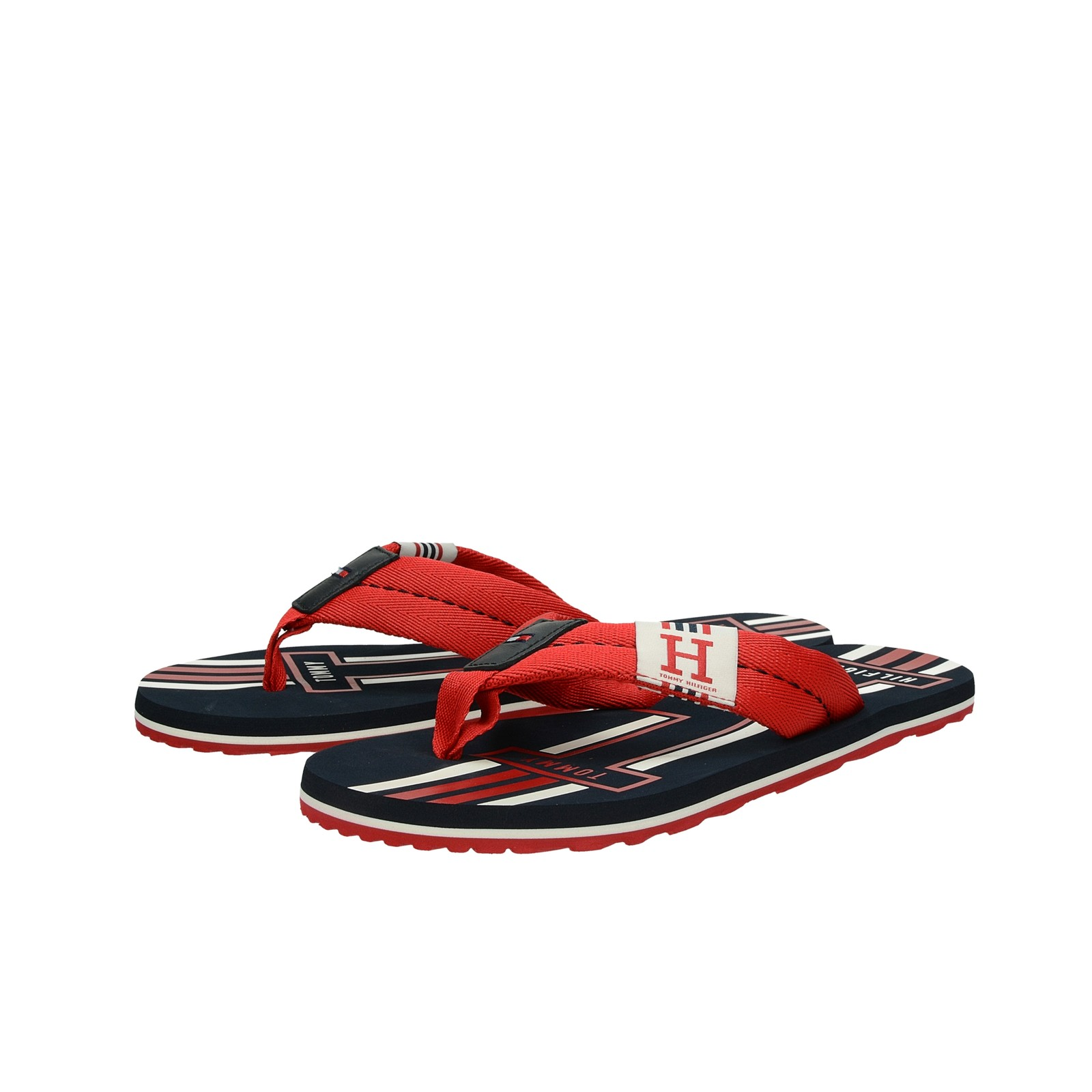 5e41e431ada6b Tommy Hilfiger pánske štýlové plážovky - červené | FM0FM02076611 ...