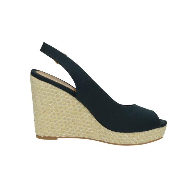 1154013839 Tommy Hilfiger dámske štýlové sandále na klinovej podrážke - modré ...