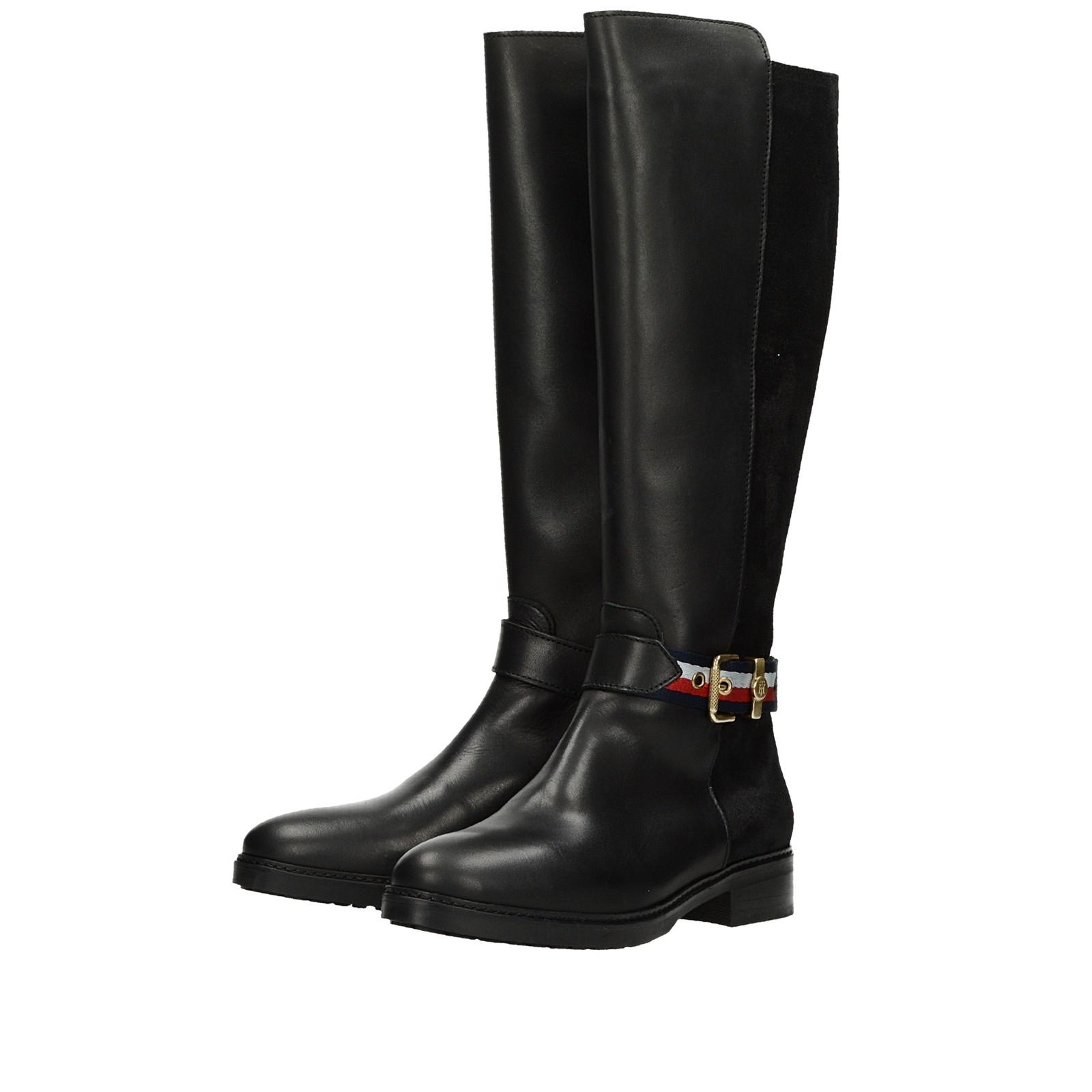 0128532c49 ... Tommy Hilfiger dámske kožené vysoké čižmy - čierne ...