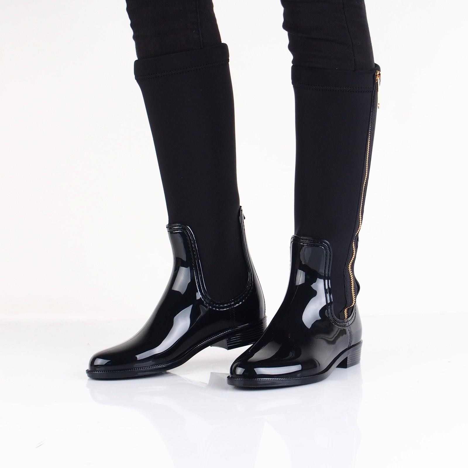 7f11b2eb80 Tommy Hilfiger dámske štýlové vysoké čižmy - čierne ...