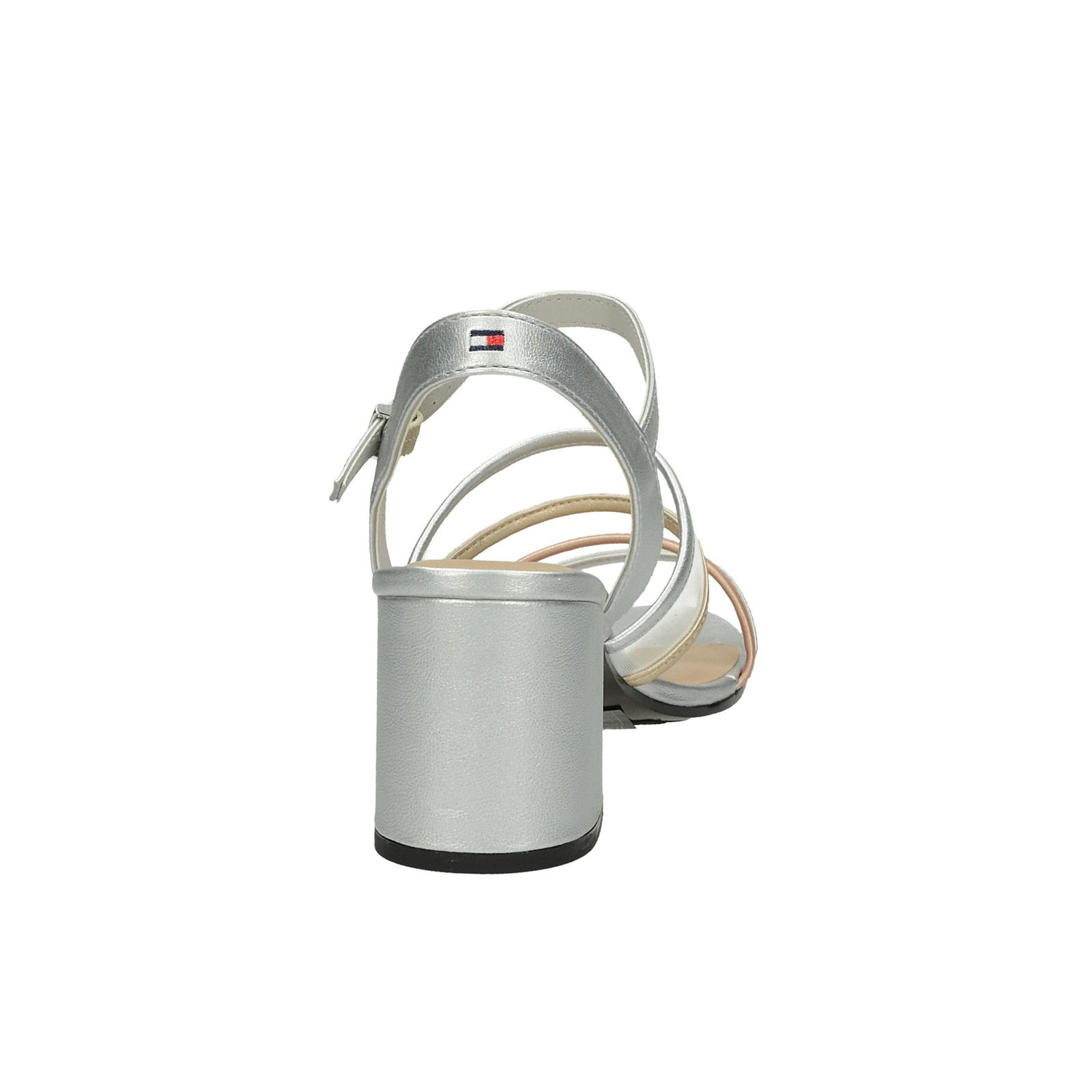 9ce58d241b ... Tommy Hilfiger dámske štýlové sandále s remienkom - strieborné ...