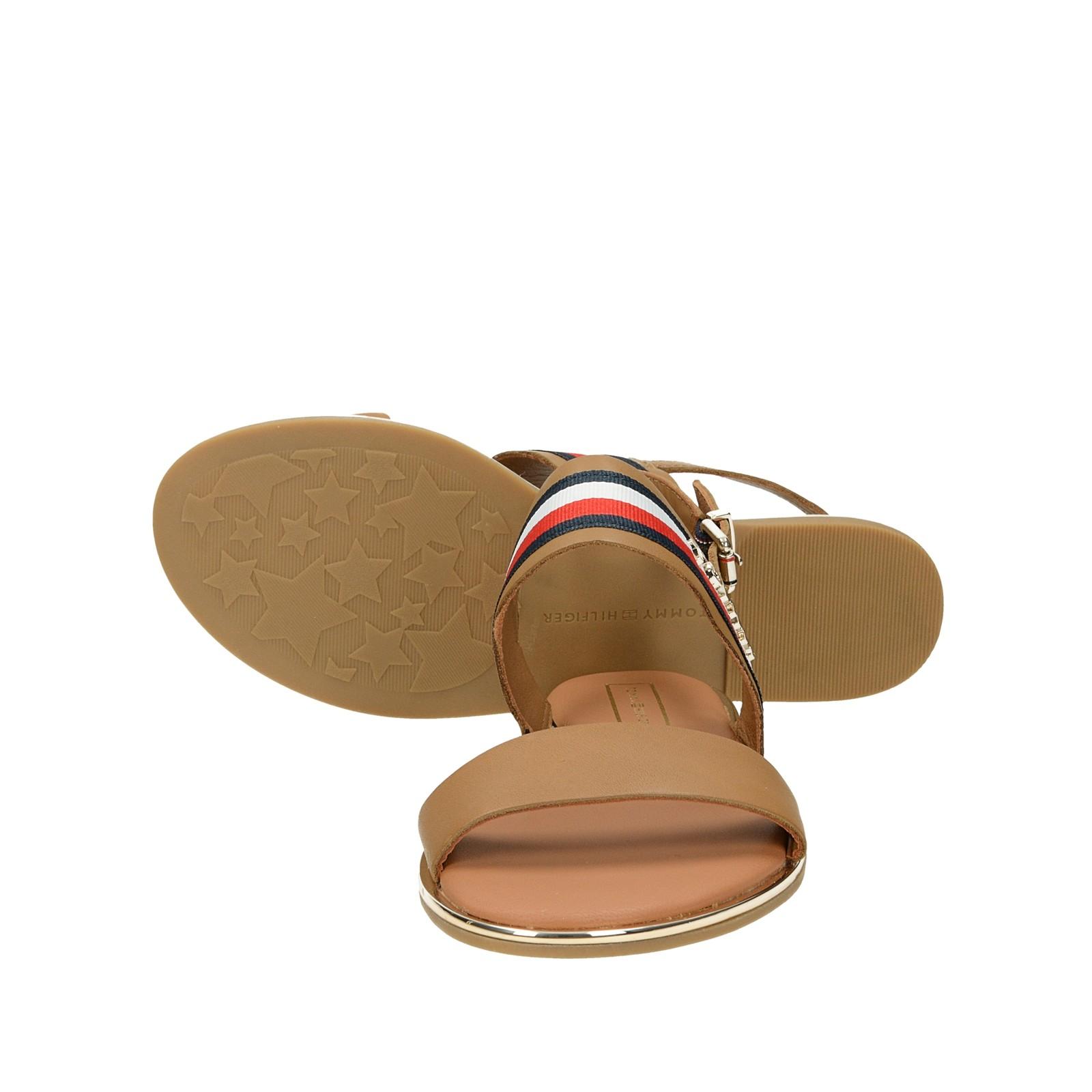 6a8c7accbd ... Tommy Hilfiger dámske kožené štýlové sandále - hnedé ...