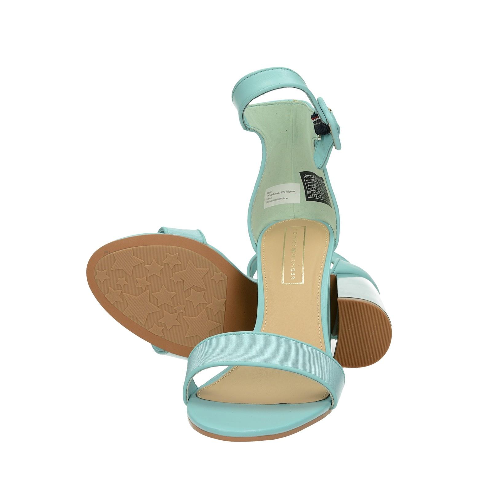 ff36af36c4 ... Tommy Hilfiger dámske štýlové sandále na vysokom podpätku - zelené ...