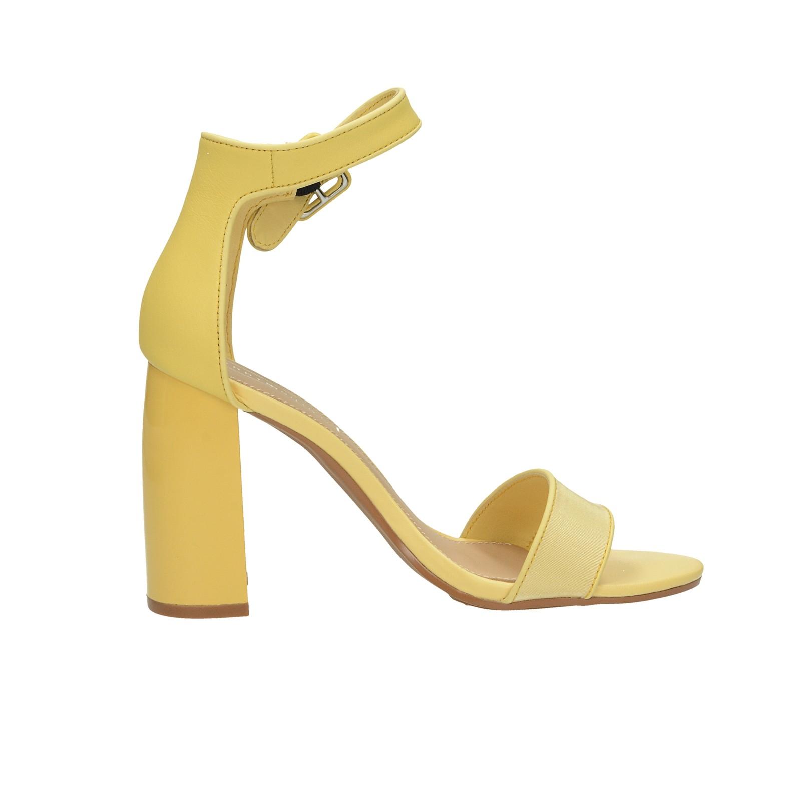 7501351d68 ... Tommy Hilfiger dámske štýlové sandále na vysokom podpätku - žlté ...