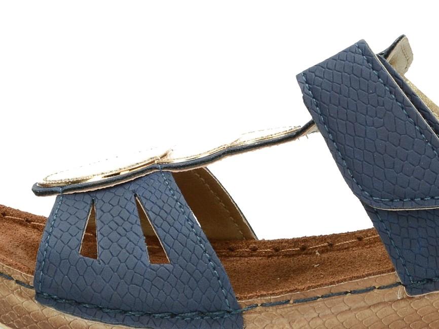 c4b5d47b9c60 ... Inblu dámske šľapky na klinovej podrážke - modré ...