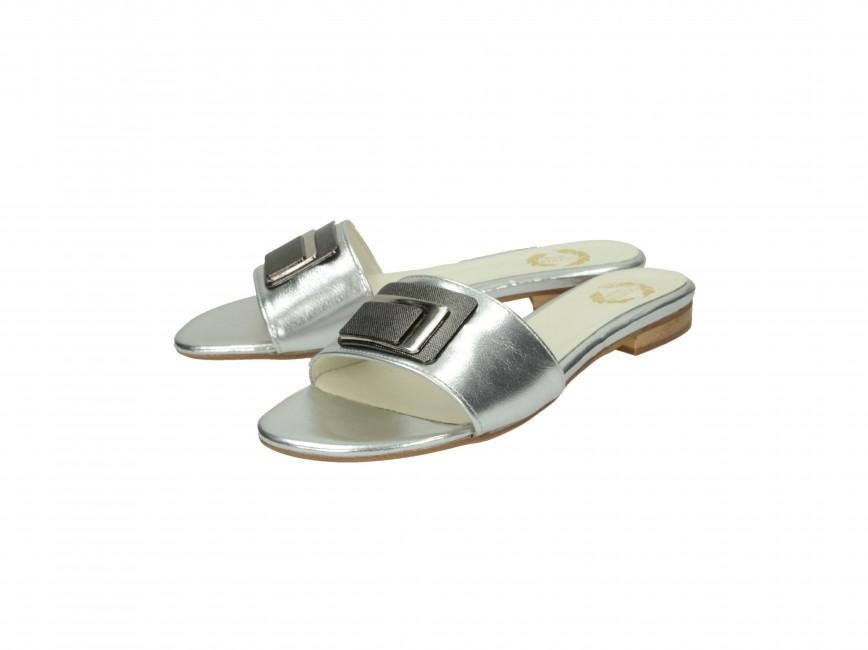 ... Olivia shoes dámske šľapky - strieborné ... 5cf0f836834
