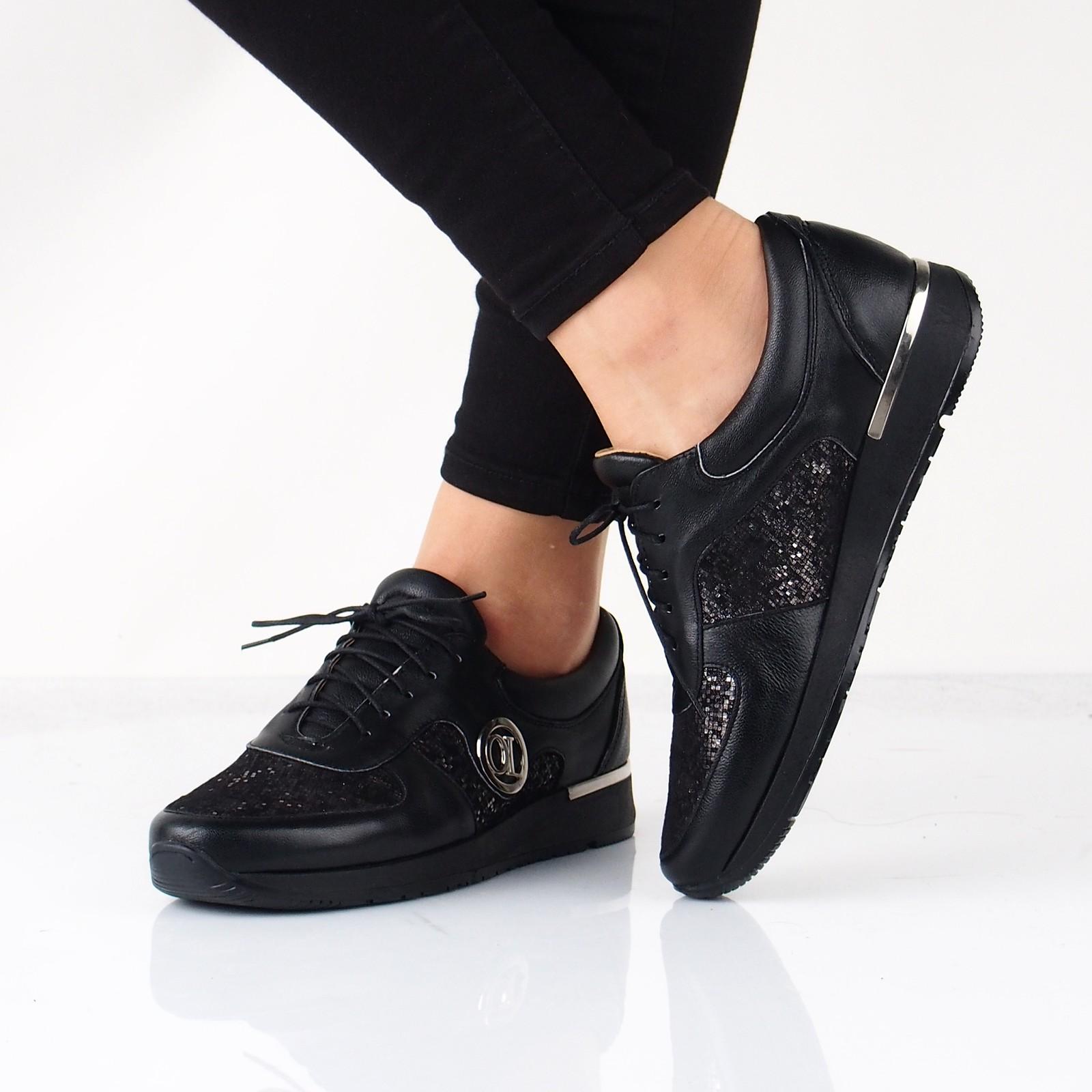 dfaf94f439 Olivia shoes dámske kožené tenisky - čierne ...