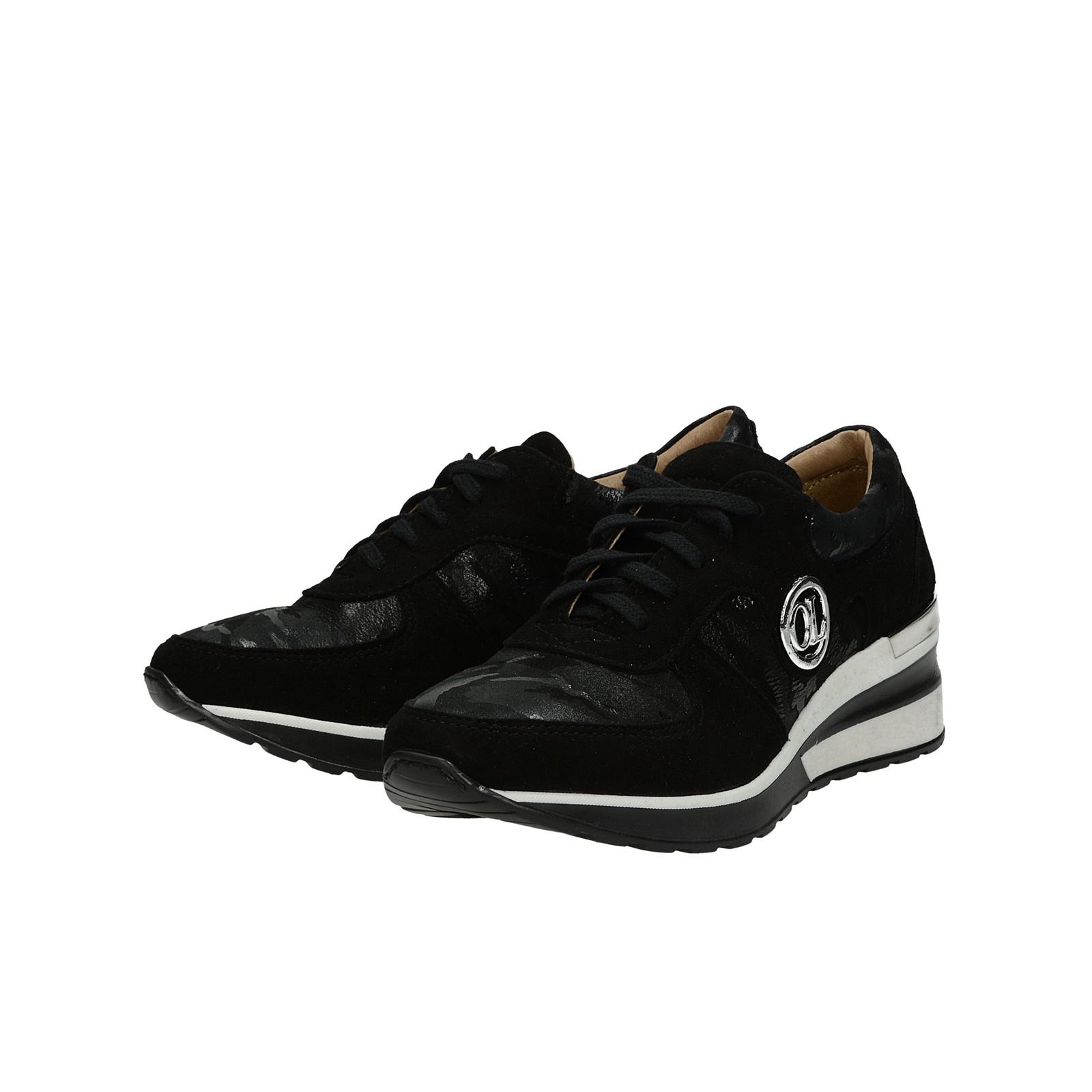 ddae5d3e94cc ... Olivia shoes dámske kožené tenisky na klinovej podrážke - čierne ...
