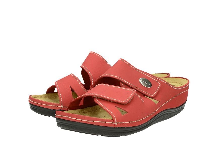 Inblu dámske kožené šľapky - červené