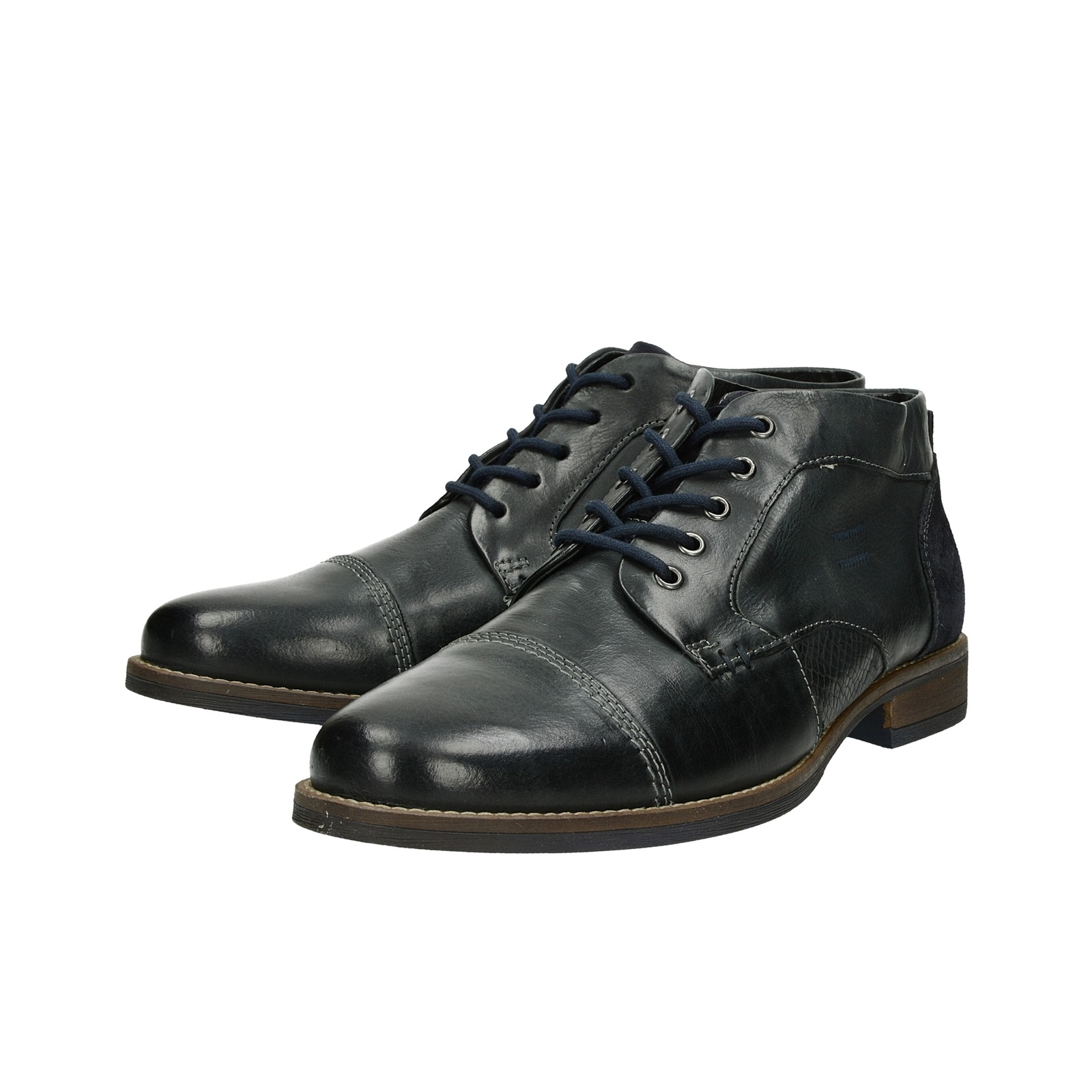 1f0865101e7b ... Klondike pánska kožená členková obuv - tmavomodrá ...