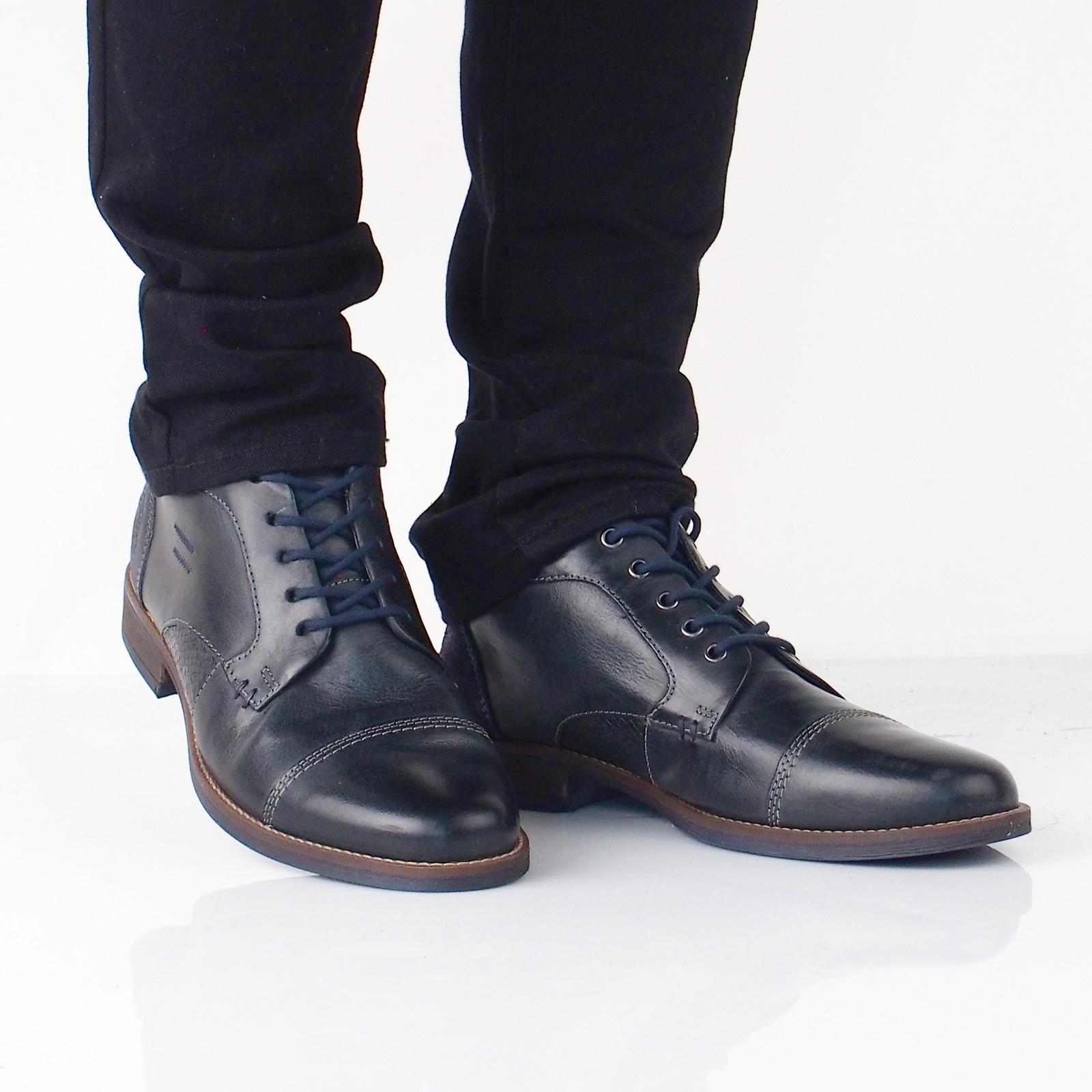 5c91d53499766 Klondike pánska kožená členková obuv - tmavomodrá | MH285H09-201 www ...