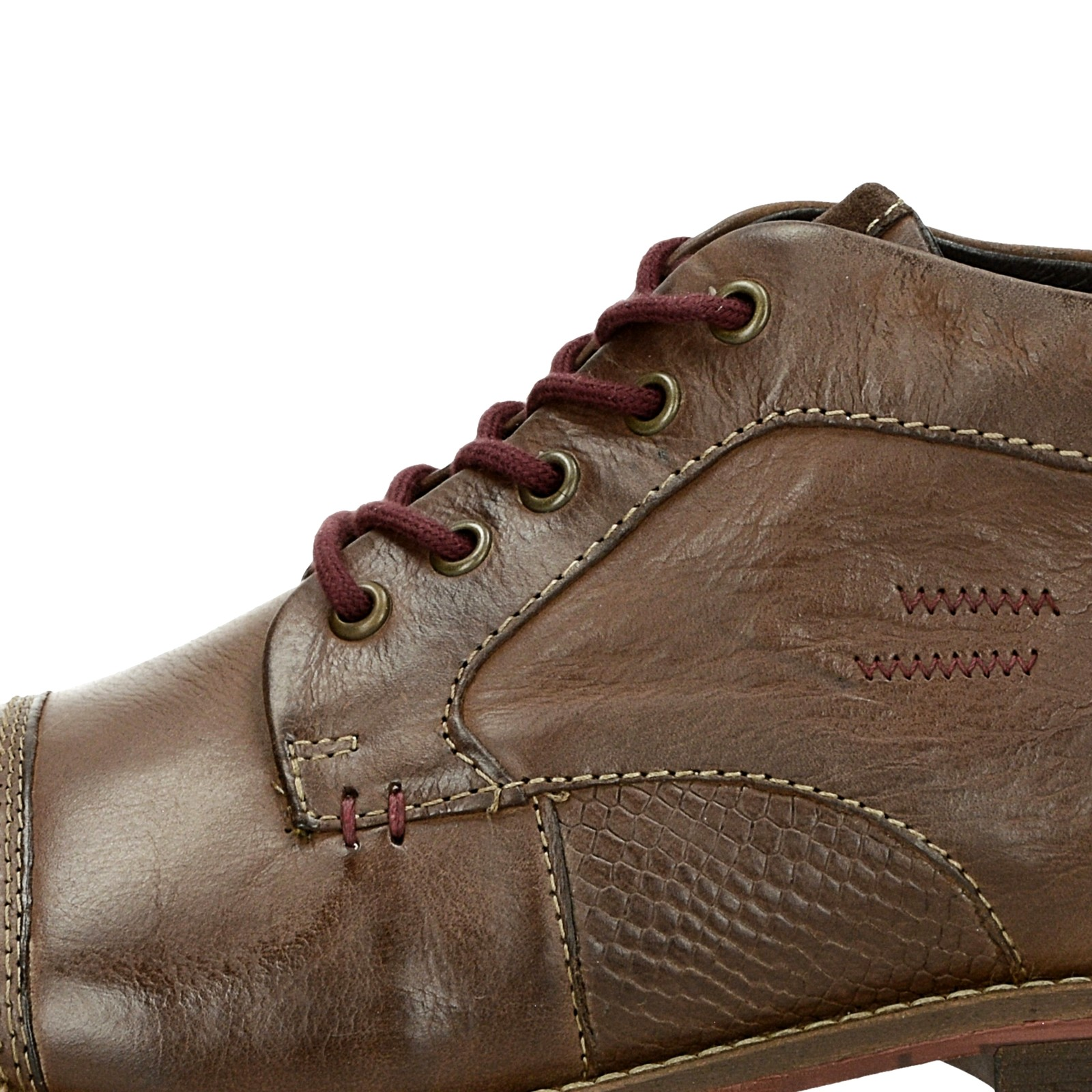 fe4d51e089 ... Klondike pánska kožená členková obuv - hnedá ...