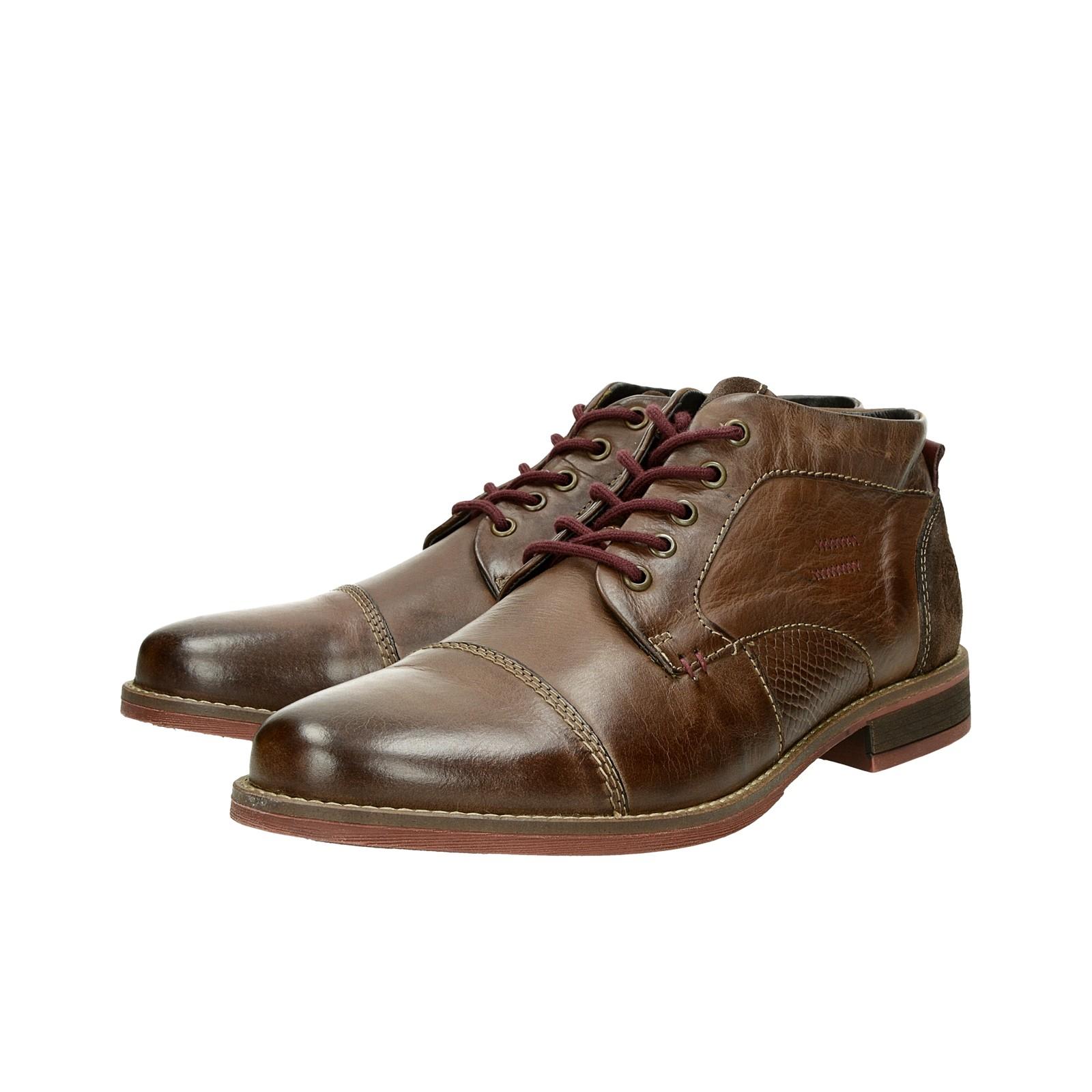 c4cb7ba38 Klondike pánska kožená členková obuv - hnedá | MH285H09-303 www.robel.sk