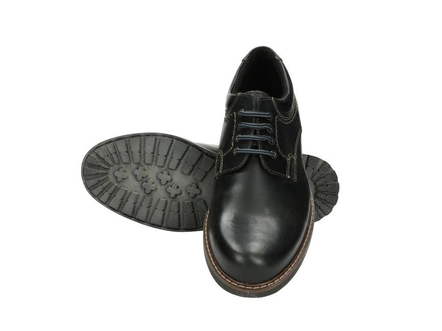 Klondike pánske kožené poltopánky - čierne