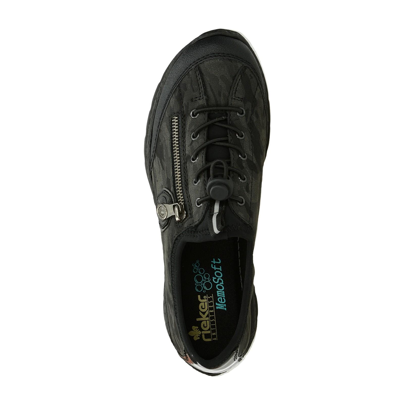 Rieker dámske pohodlné tenisky - čierne