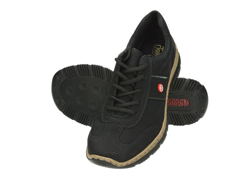 Rieker dámske komfortné tenisky - čierne