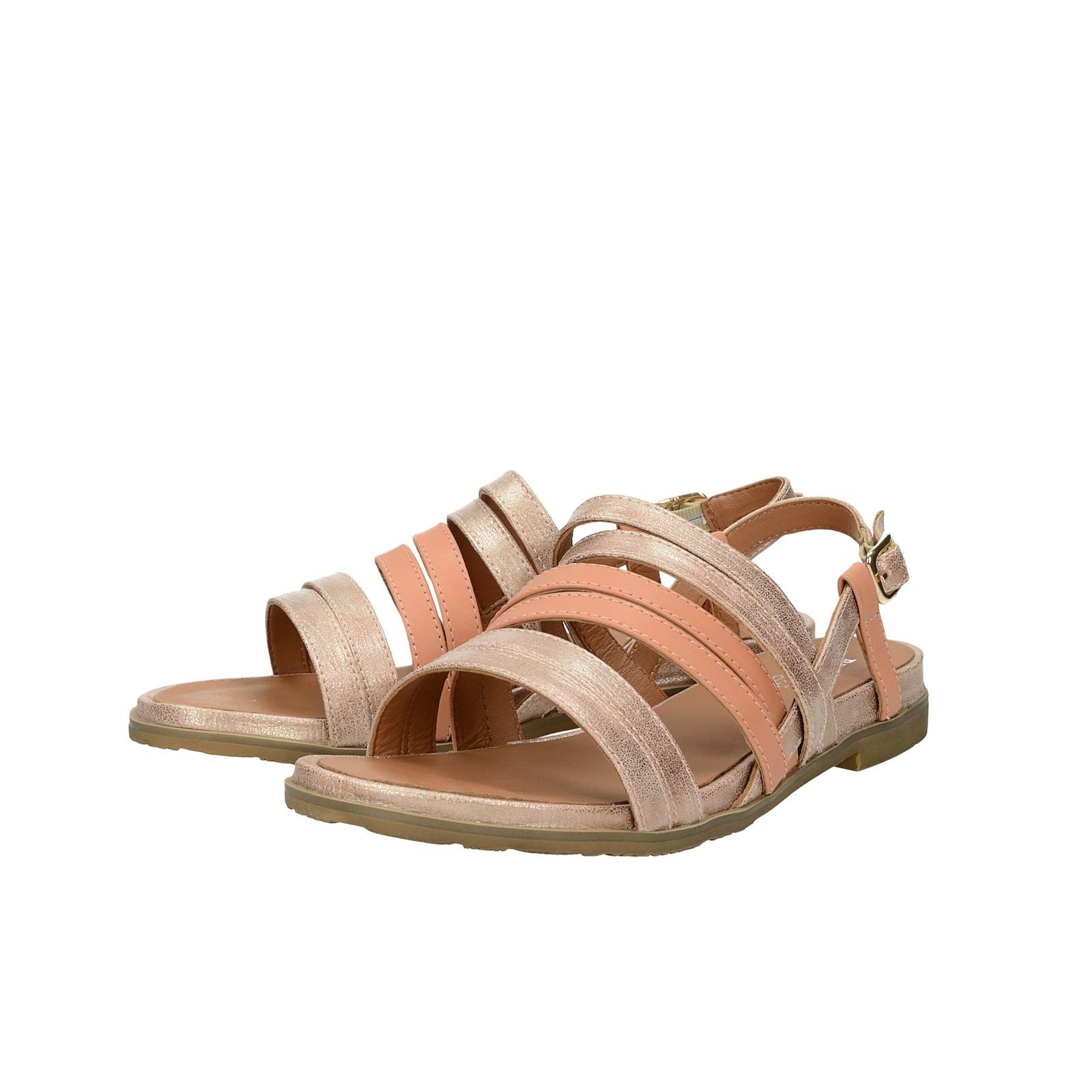 6596c6160a Regarde le ciel dámske kožené sandále - ružové ...