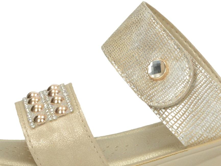 f03d5f02d4ccb Inblu dámske štýlové šľapky s kamienkami - zlaté | NF2-PLATIN www ...