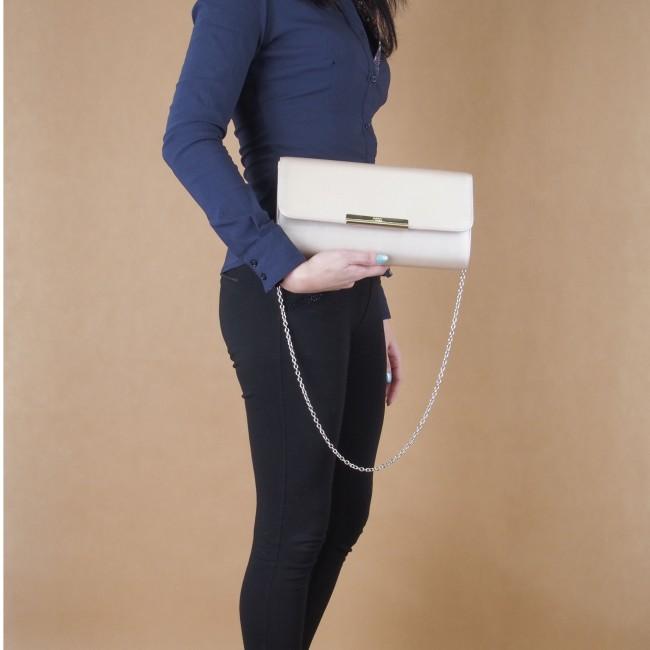 Nobo dámska spoločenská kabelka - strieborná