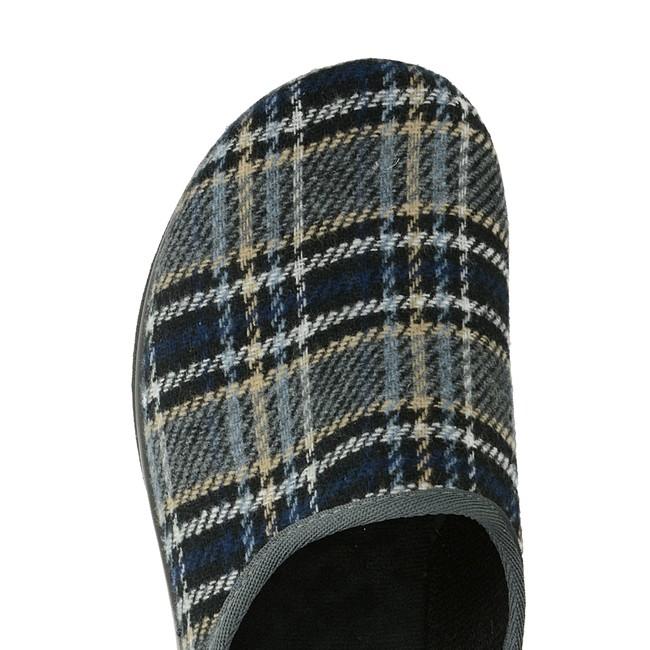 c0125e676b6d2 Inblu pánska domáca obuv so vzorom - viacfarebná | PO56-GREY www ...