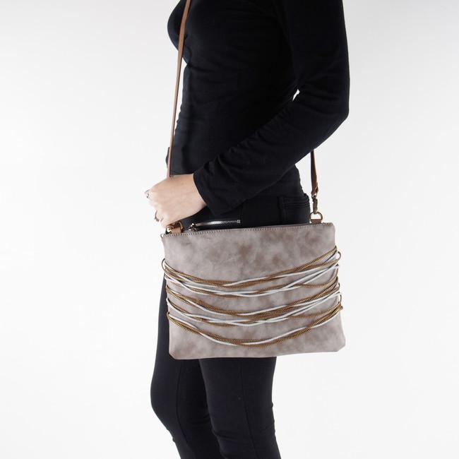 Remonte dámska štýlová kabelka s ozdobnými prvkami - šedá ... 4297e745e95
