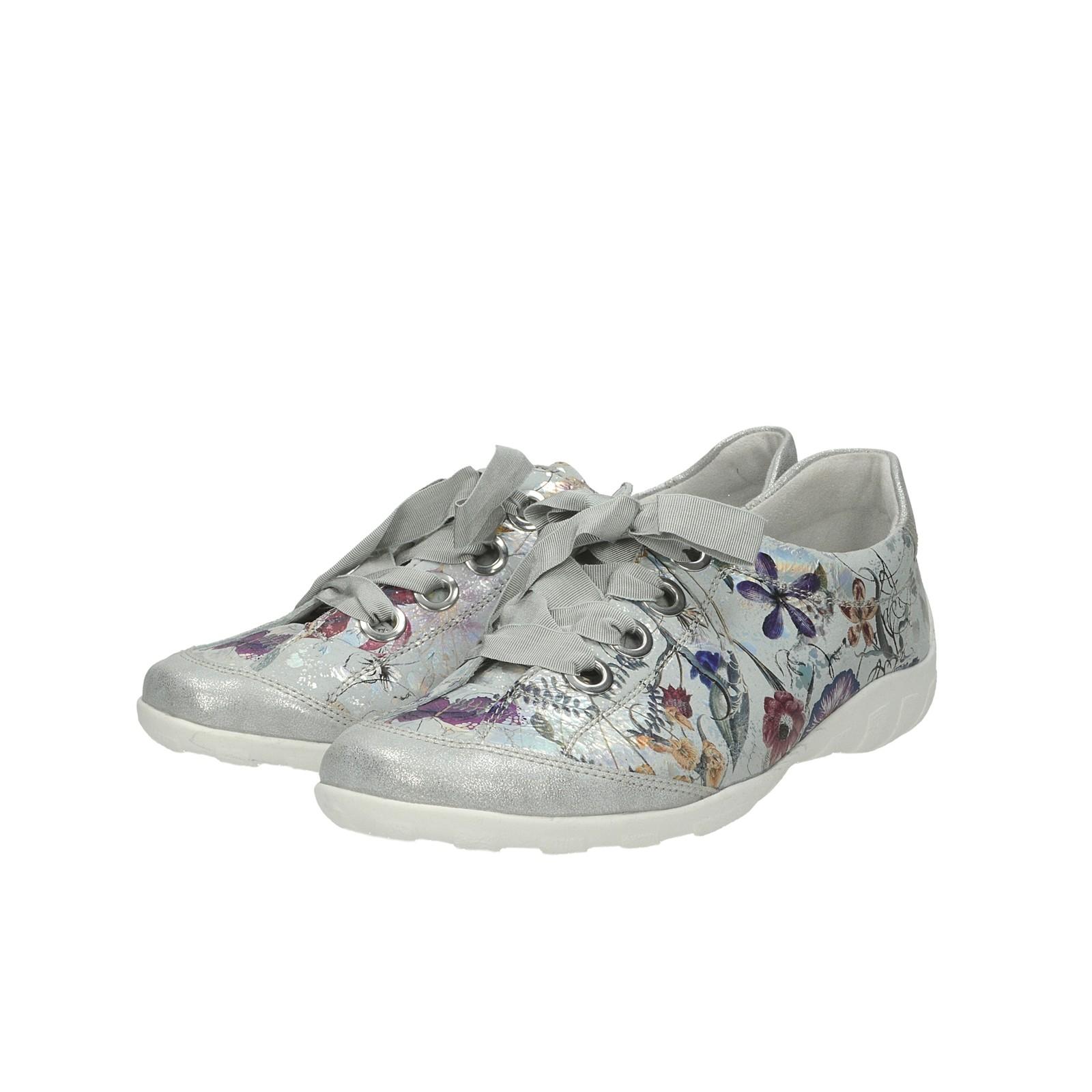 104558c50e2b ... Remonte dámske štýlové tenisky s kvetinovým vzorom - strieborné ...