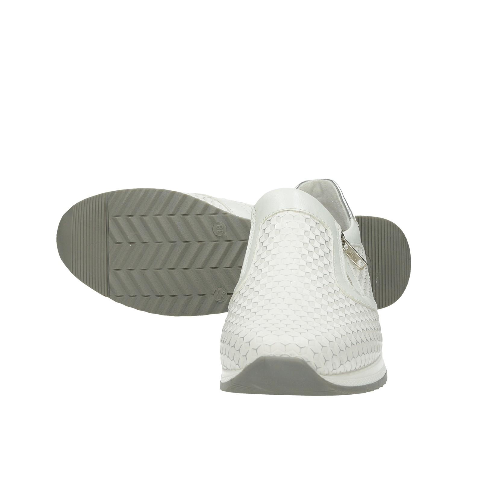 Remonte dámske štýlové tenisky bez šnurovania - biele ... 065892f668b