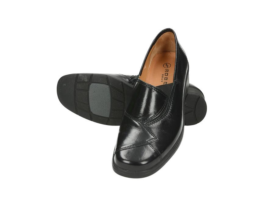 3996e4d8eafa Robel dámske pohodlné poltopánky podpätku- čierne ...