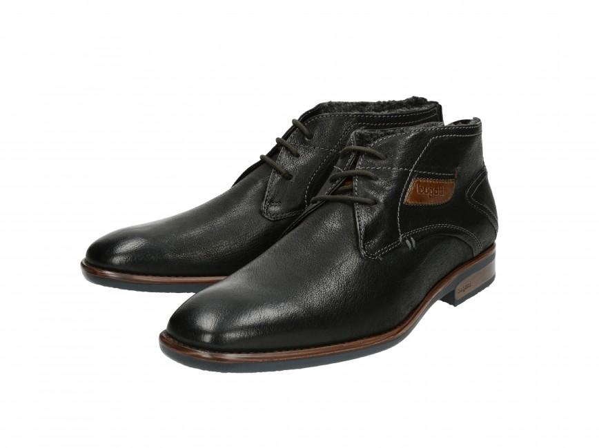 3b6d6508582d ... Bugatti pánske zateplené topánky - čierne ...