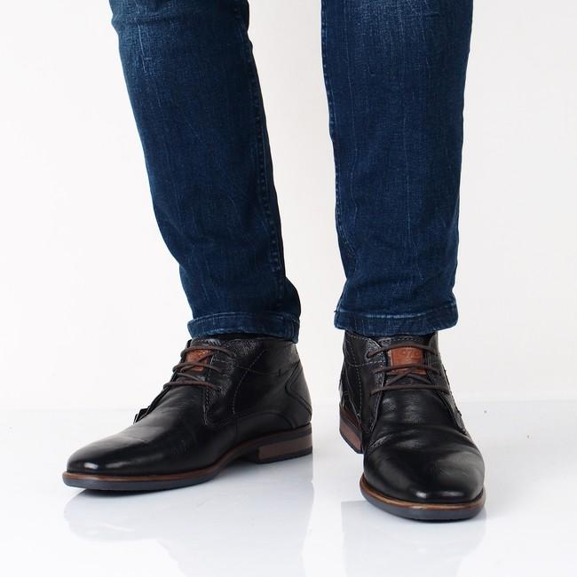 8e3e4d10ff4d Bugatti pánske zateplené topánky - čierne ...