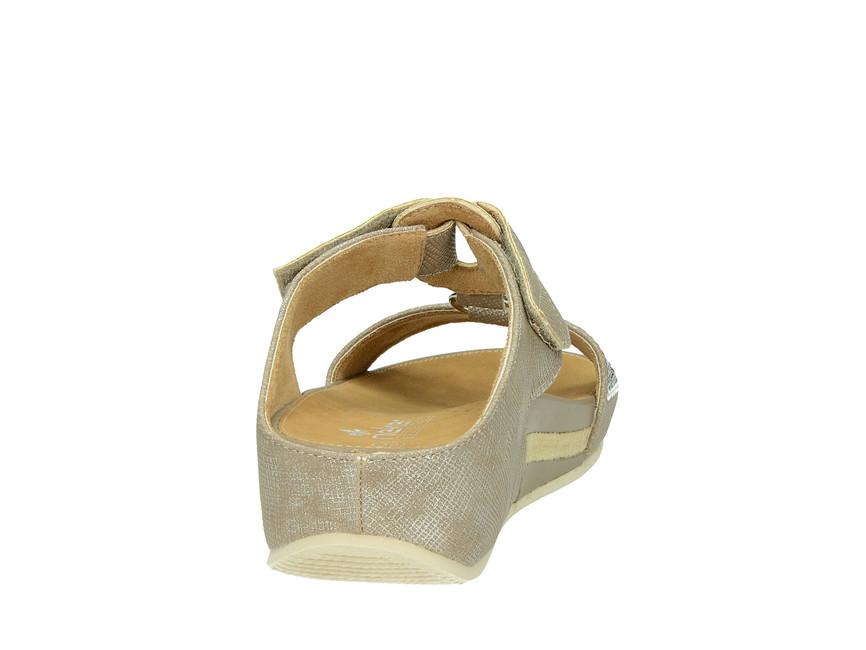e4b756e0d Rieker dámske šľapky - zlaté | V146864-FANGO www.robel.sk