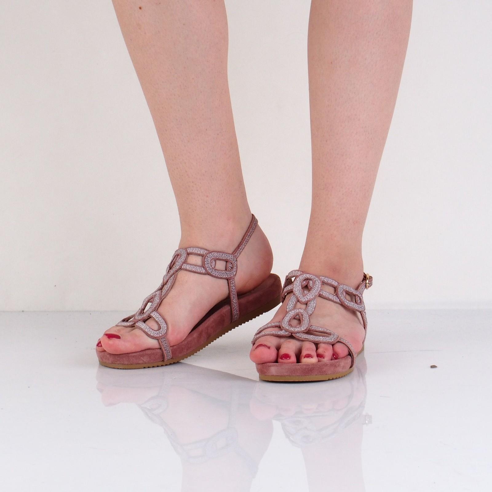 Alma en Pena dámske pohodlné sandále s remienkom - ružové