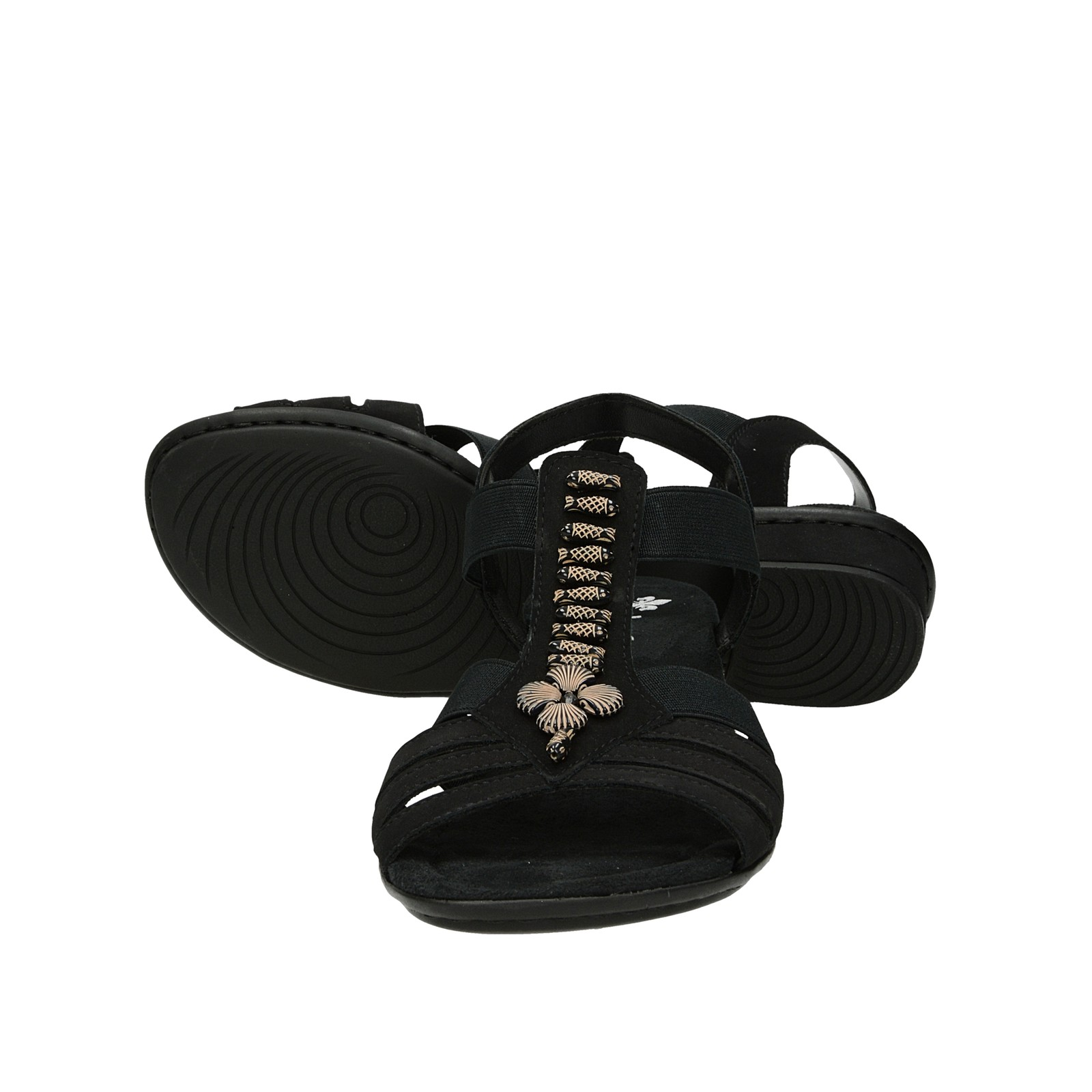 9f43c21d0ef9 ... Rieker dámske sandále s ozdobnými prvkami - čierne ...