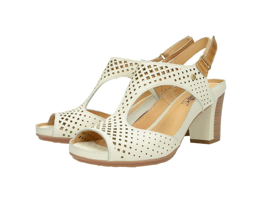 f5de81437a15d Pikolinos dámske sandále na podpätku - biele   W0K0919-NATA www.robel.sk