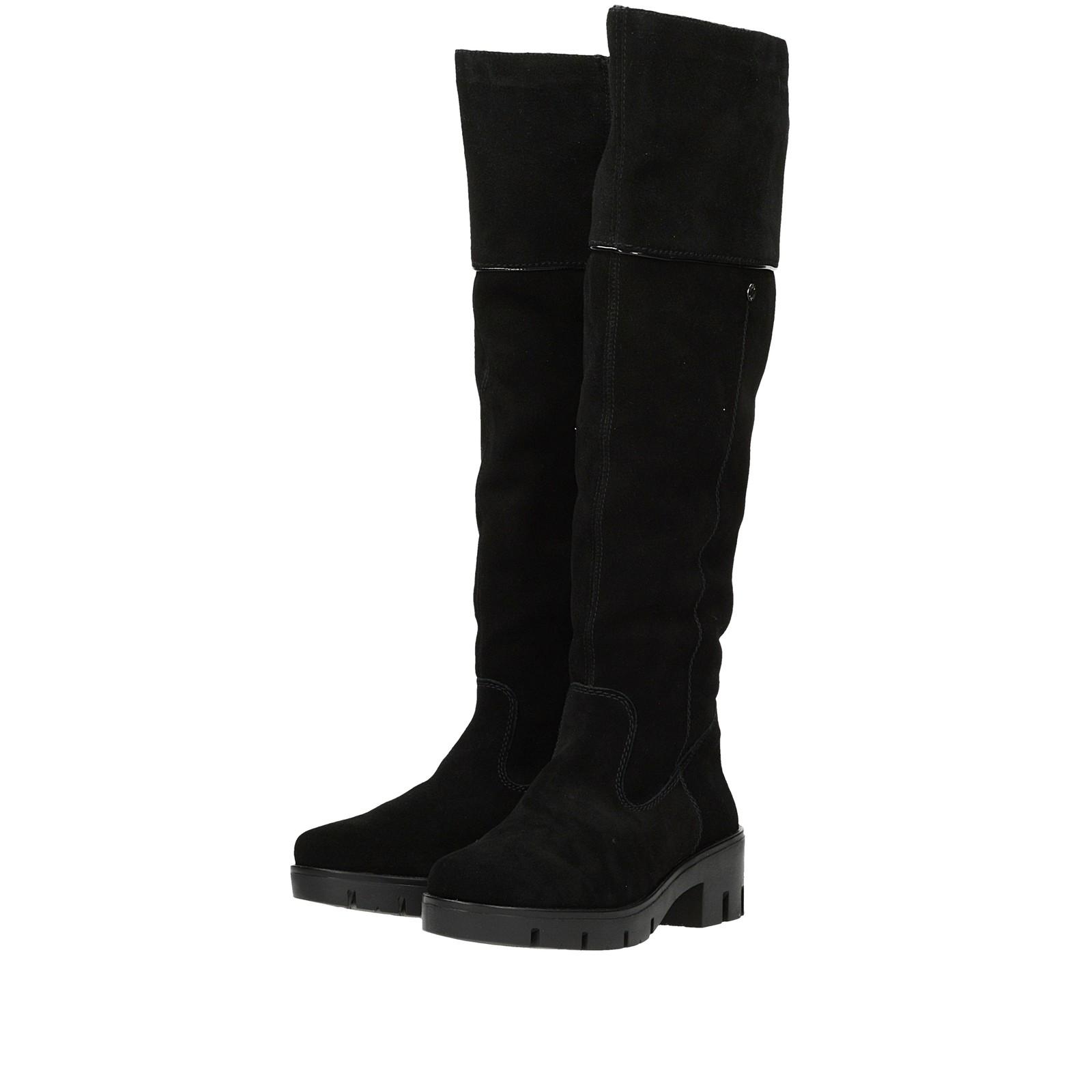 8a25a30fa86c7 Rieker dámske semišové vysoké čižmy - čierne | X205200-BLK www.robel.sk